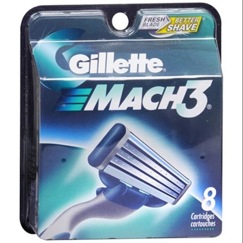 Gillette MACH3 Cartridges 8 Each (Pack of 3)