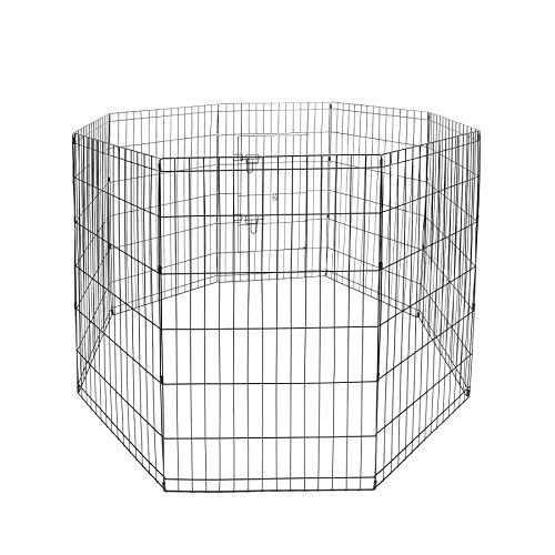 Dog Animal Popup Playpen Large Metal Crate Wire Cage S-24inch