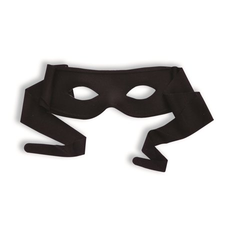 Black Mask Costume (Zorro Black Bandit Superhero Cloth Eye Mask Costume Accessory Tie)