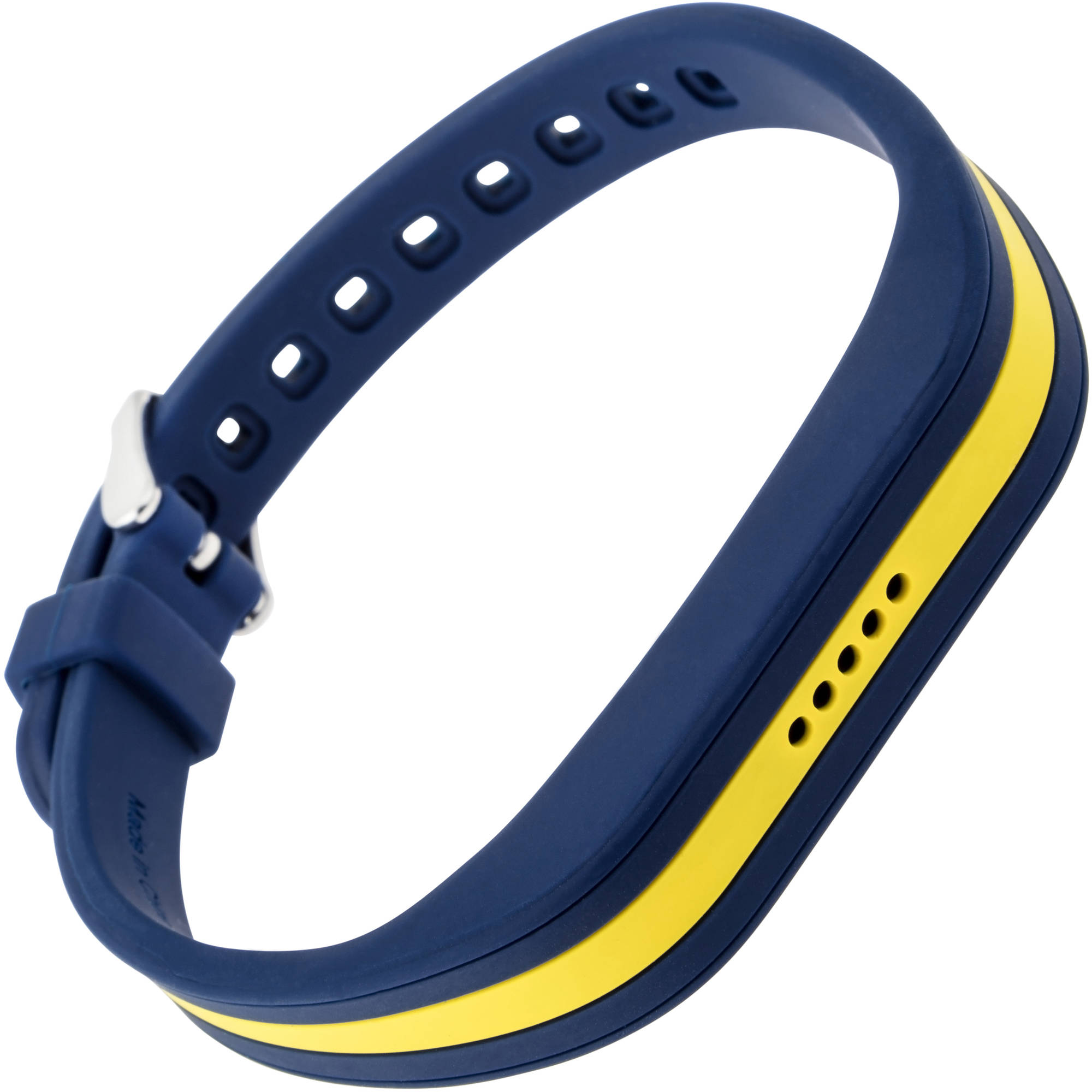 Blackweb Replacement Band with Steel Buckle for Fitbit Flex 2, Blue Yellow by Generic