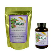 Herb Lore Organic Vitex Chasteberry Fertility Pills and Fertility Tea for Women - 1 Month Supply - Natural Fertility Blend of Organic Herbs to Increase Chances of Getting Pregnant