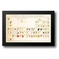 FrameToWall - Periodic Table of Vegetables 43x29 Framed Art Print by Weissman, Naomi