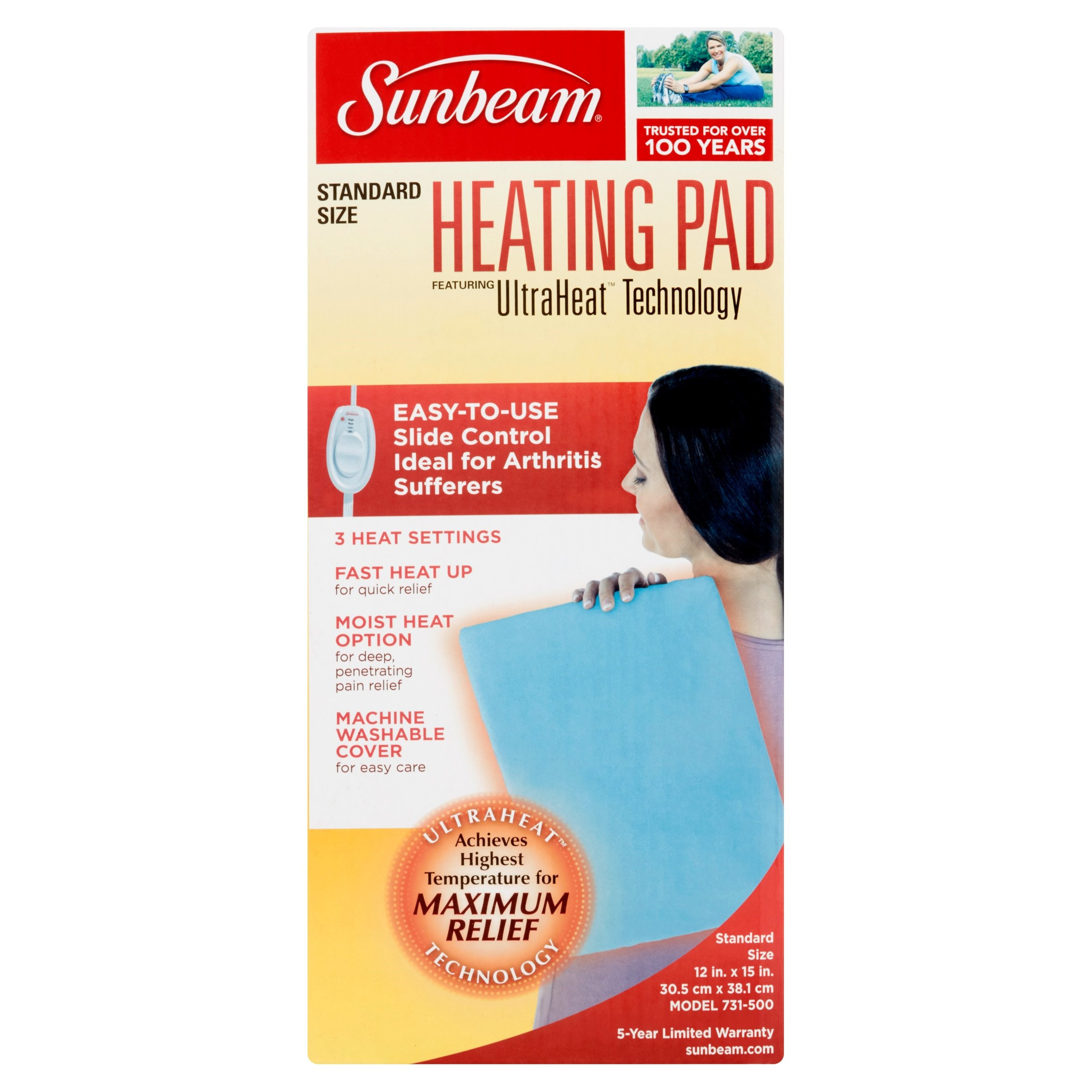 Sunbeam Moist/Dry Heating Pad, Model 731-5