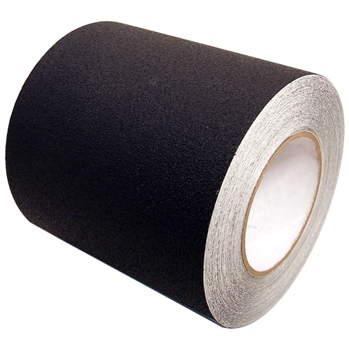 PRO-17 6 inch x 20  yards Non Skid Black Textured Vinyl Safety Tape