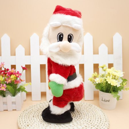Electric Santa Claus Animated Figure Twisted Hip Dance Sound Funny Toy As Gift