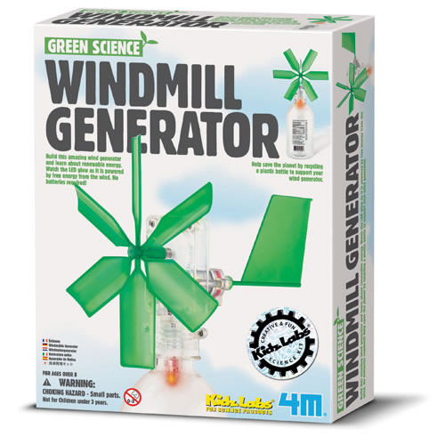 Green Science Windmill Generator by Toysmith Multi-Colored