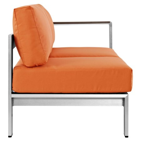 Modway Shore Right-Arm Corner Sectional Outdoor Patio Aluminum Loveseat, Multiple Colors Available