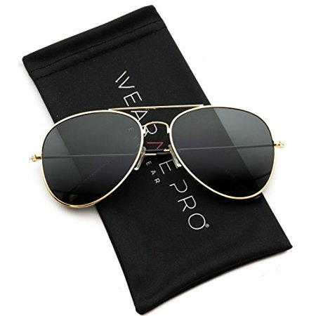 WearMe Pro - Polarized Metal Frame Pilot Style Aviator Sunglasses ()