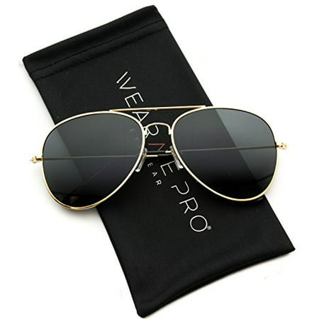 WearMe Pro - Polarized Metal Frame Pilot Style Aviator Sunglasses