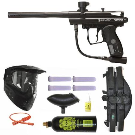 Spyder Victor Paintball Marker Gun 3Skull 4+1 9oz Mega Set