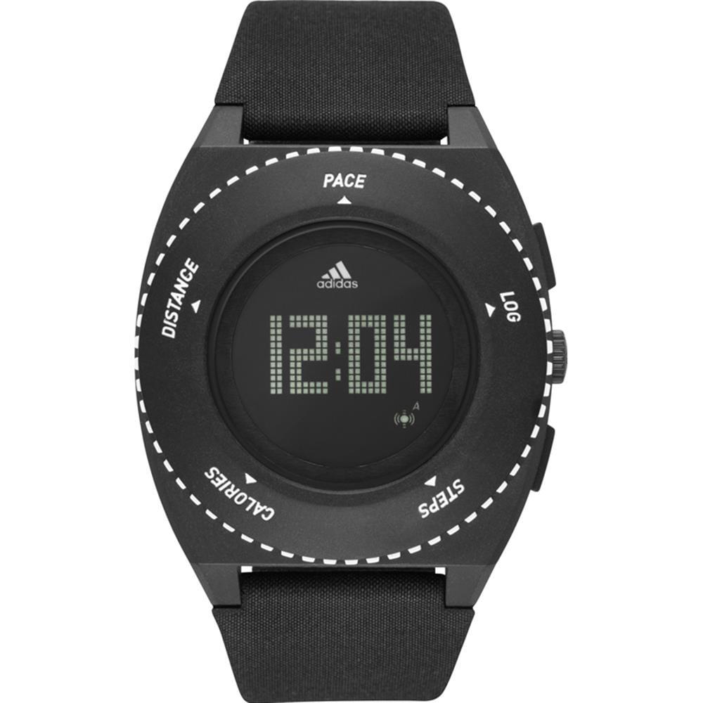 adidas Men's 45mm Black Cloth Band Plastic Case Quartz Digital Watch ADP3275 by Adidas