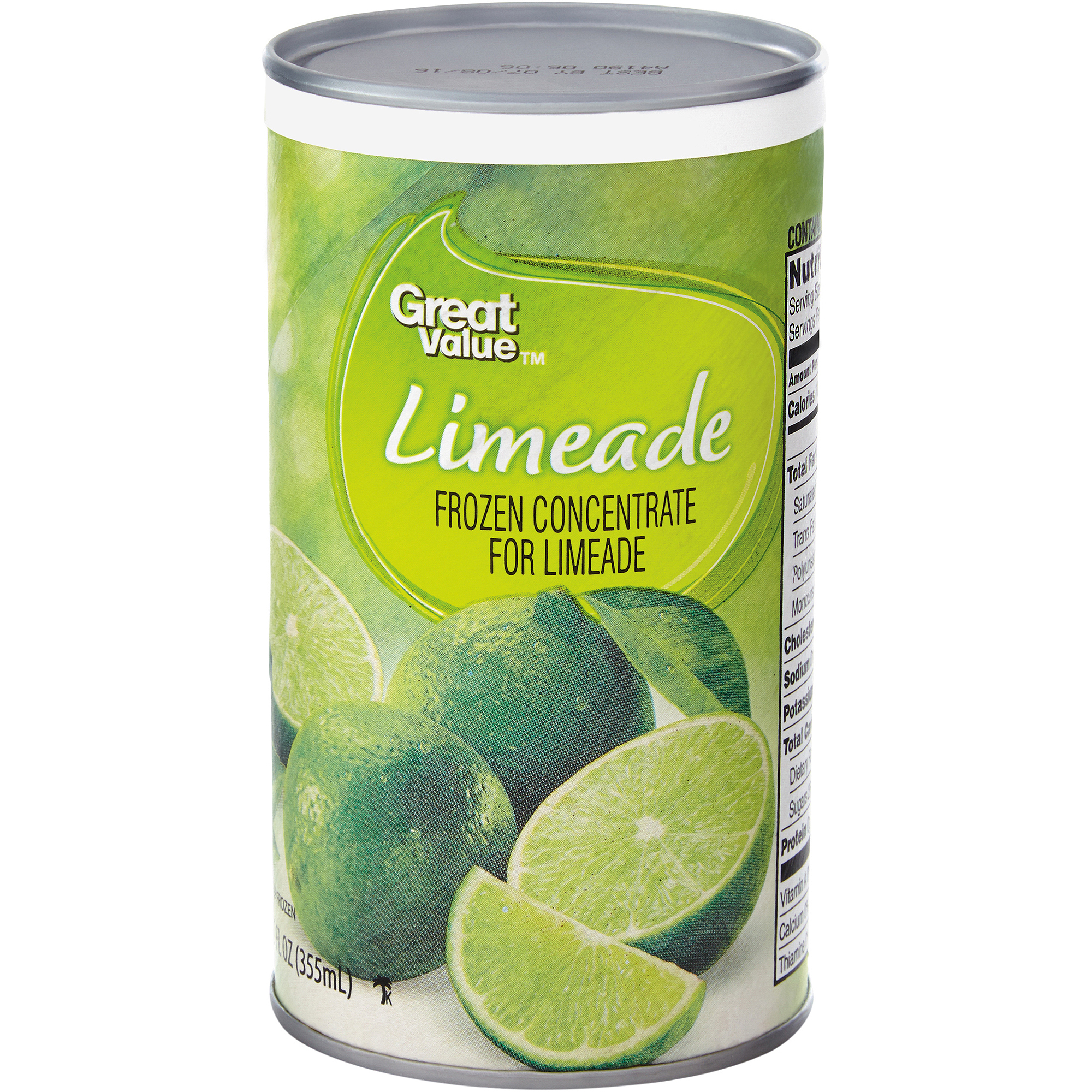 Great Value:  Limeade, 12 Oz