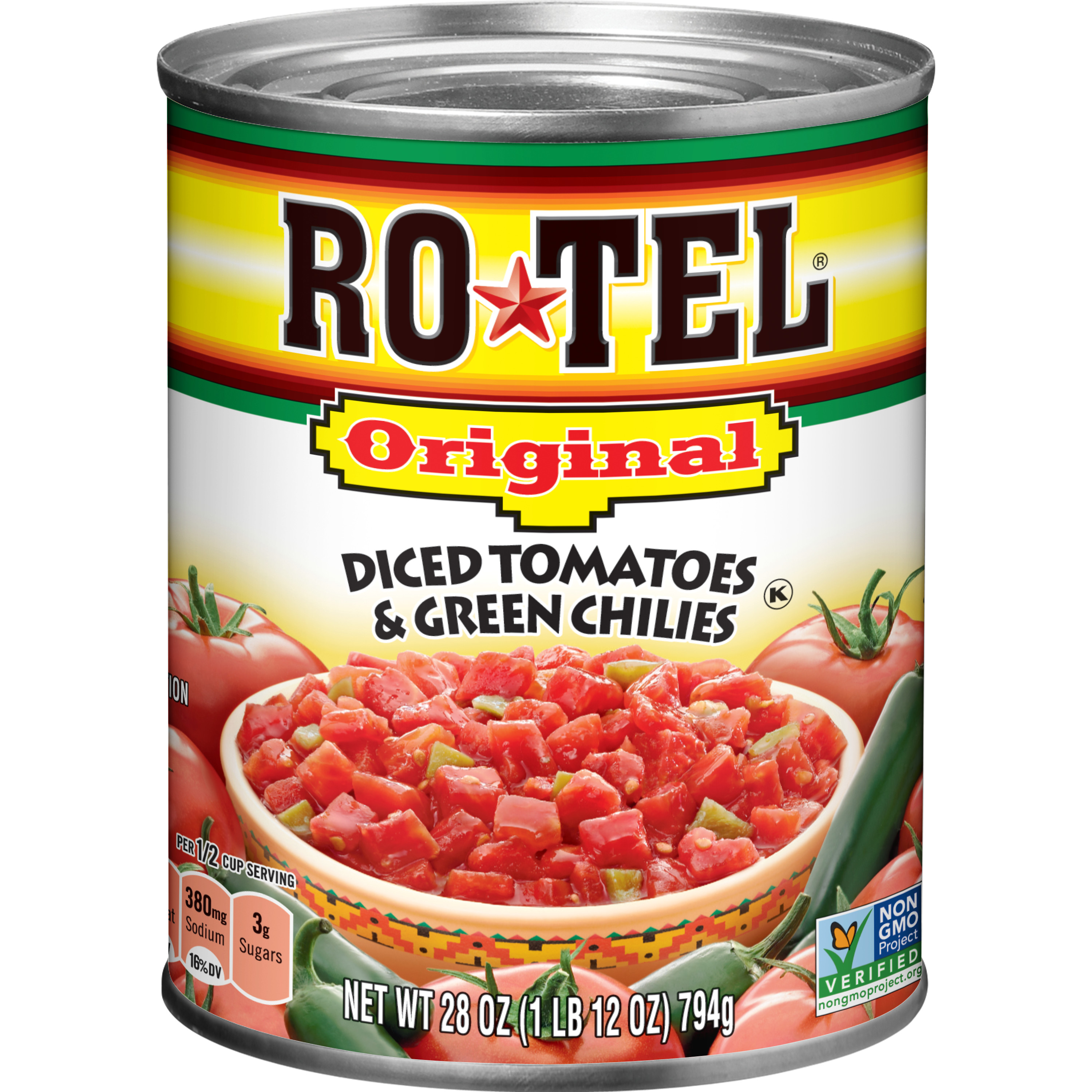 RO*TEL Original Diced Tomatoes and Green Chilies, 28 Ounce