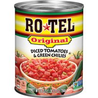 (4 Pack) RO*TEL Original Diced Tomatoes and Green Chilies, 28 Ounce