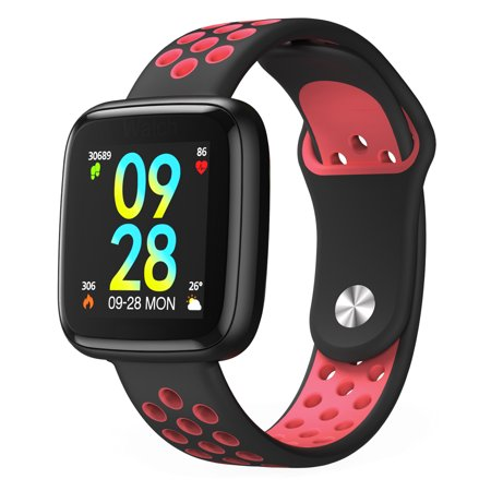 Fitness Tracker, IP68 Waterproof Activity Tracker with Heart Rate Monitor Bluetooth Multiple Sport Modes Smart Watch Wireless Smart Bracelet Sleep Monitor Pedometer Wristband for Men Women Kids