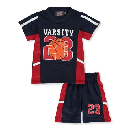 Victory League Baby Boys' 2-Piece Shorts Set Outfit](Blue Santa Outfit)
