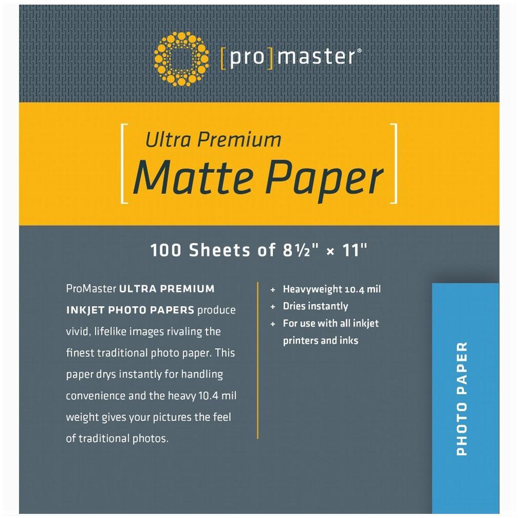 PhotoImage PRO Matte Inkjet Paper 8.5 X 11, 100 Sheets