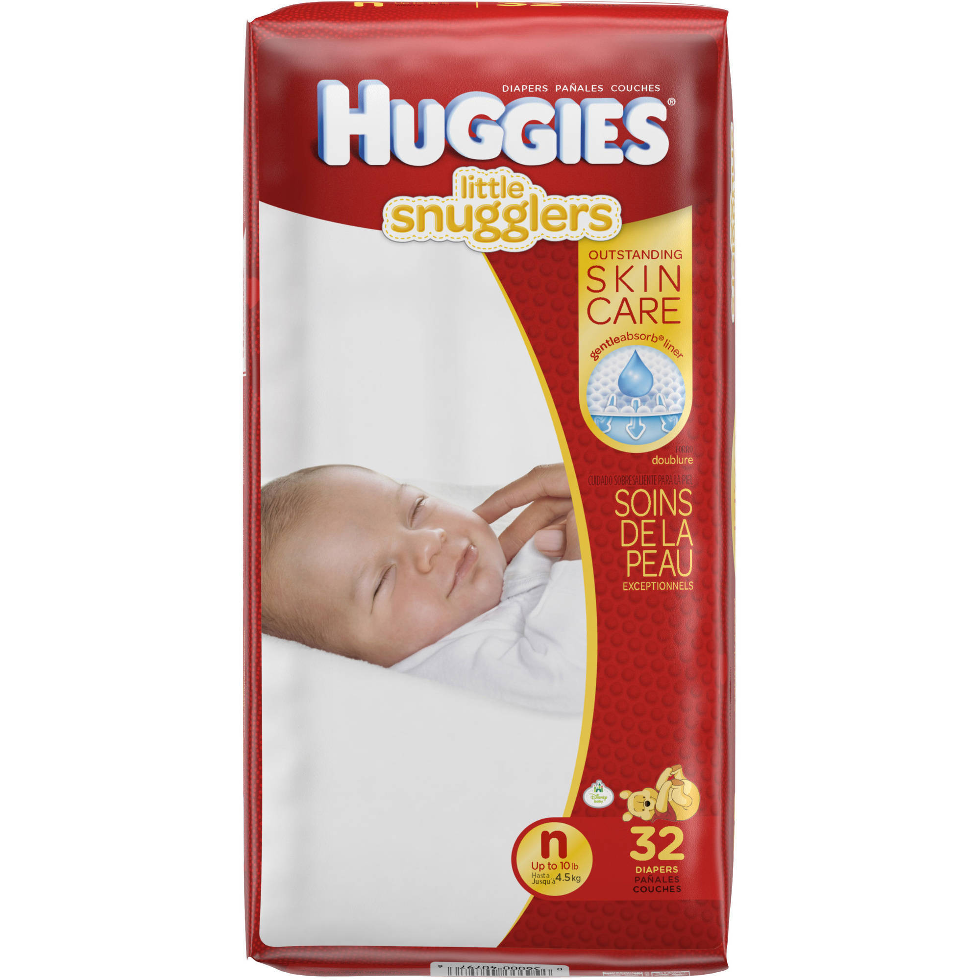 HUGGIES Little Snugglers Baby Diapers, Jumbo Pack, (Choose Your Size)