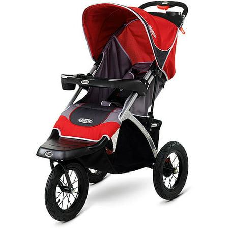 InStep - Suburban Safari Jogging Stroller, Red and Gray - Walmart.com