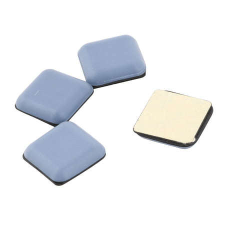 - Self Stick Furniture Slider Mover Square Shaped Chair Foot Ligth Blue 4pcs