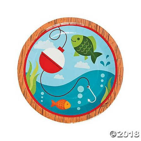 Little Fisherman Paper Dinner (Little Lamb Personalized Plate)