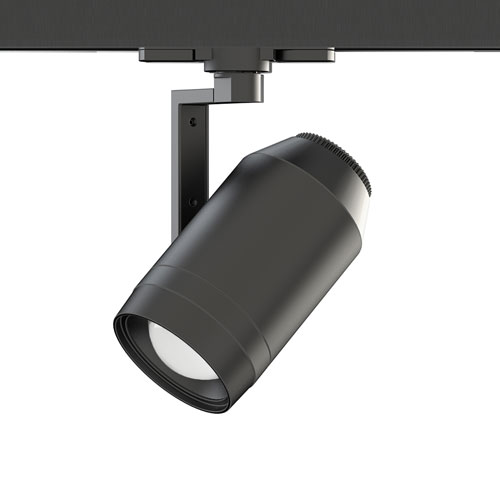 WAC Lighting Paloma LED 24W Continuous Adjustable Beam Angle Low Voltage W-Track Head , Black - WHK-LED523-927-BK