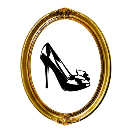 Custom Wall Decal Sticker Shoe Heel Fashion Home Decor 20x20