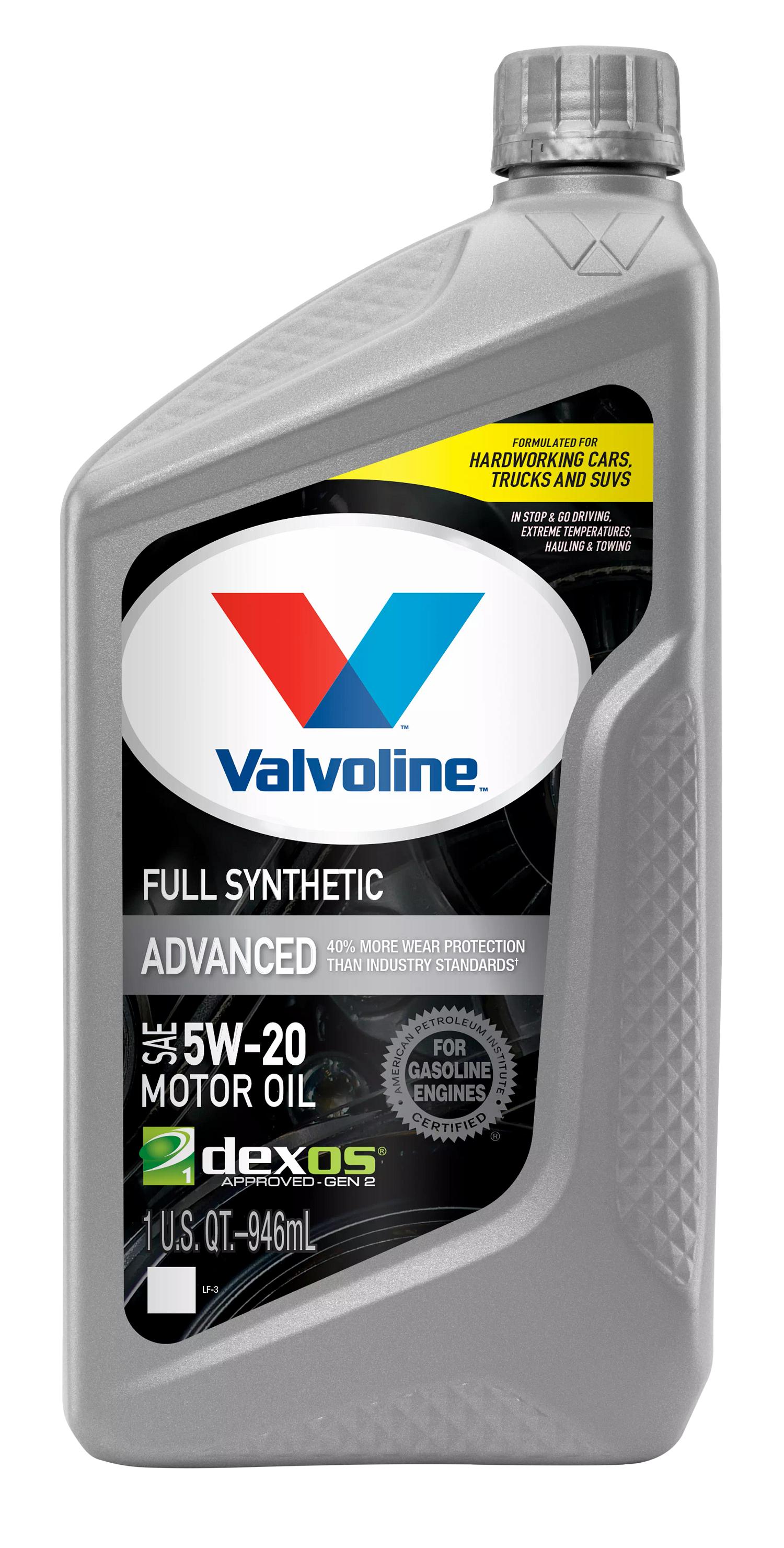 Valvoline先进的全合成SAE 5W-20电机油