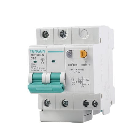 babydream1 230V 2P leakage protective breaker with Overcurrent Protection Over Short Current Leakage Protector - image 3 de 9