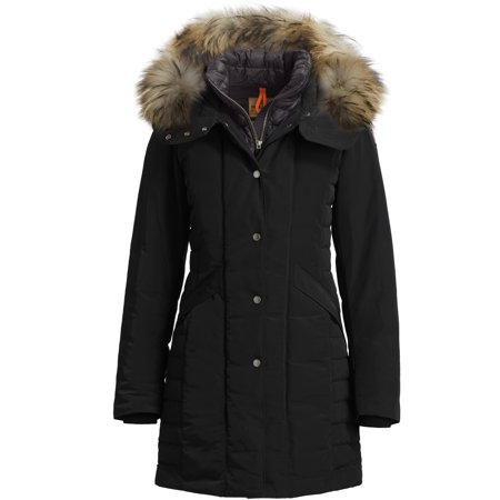 Parajumpers Angie Womens Slim Fit Finnraccoon Hooded Down Coat 15Wmpwjckmn31 541