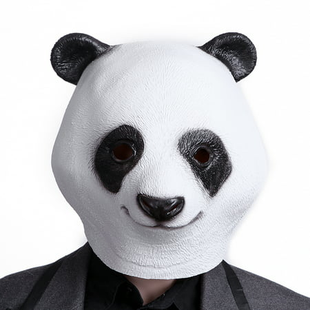 HDE Panda Bear Head Halloween Dress-Up Costume Party Mask](Panda Express Halloween Deals)