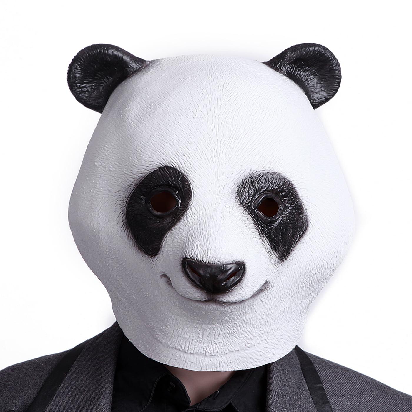 HDE Panda Bear Head Halloween Dress-Up Costume Party Mask