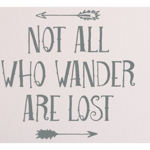 Wallums Wall Decor Not All Who Wander Are Lost Wall Decal