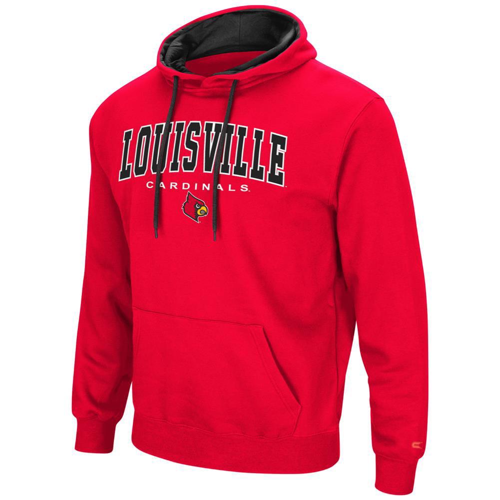 Men's Zone III Louisville Cardinals Hoodie Pullover Sweatshirt