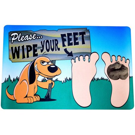 Watch Your Step Poo Pile Doormat Poo Pile - Dog Left Little Gift for Guests - Welcome Gift