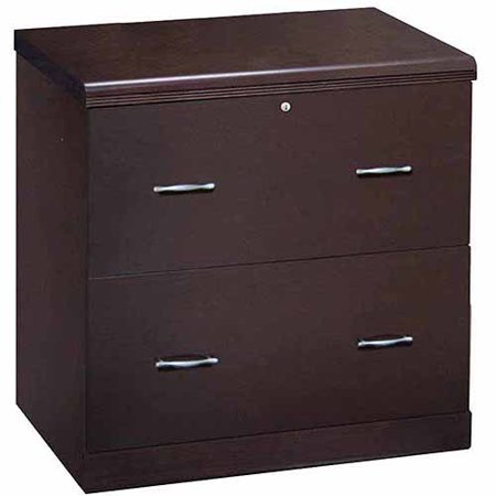 2 Drawer Office Lateral File Cabinet Espresso