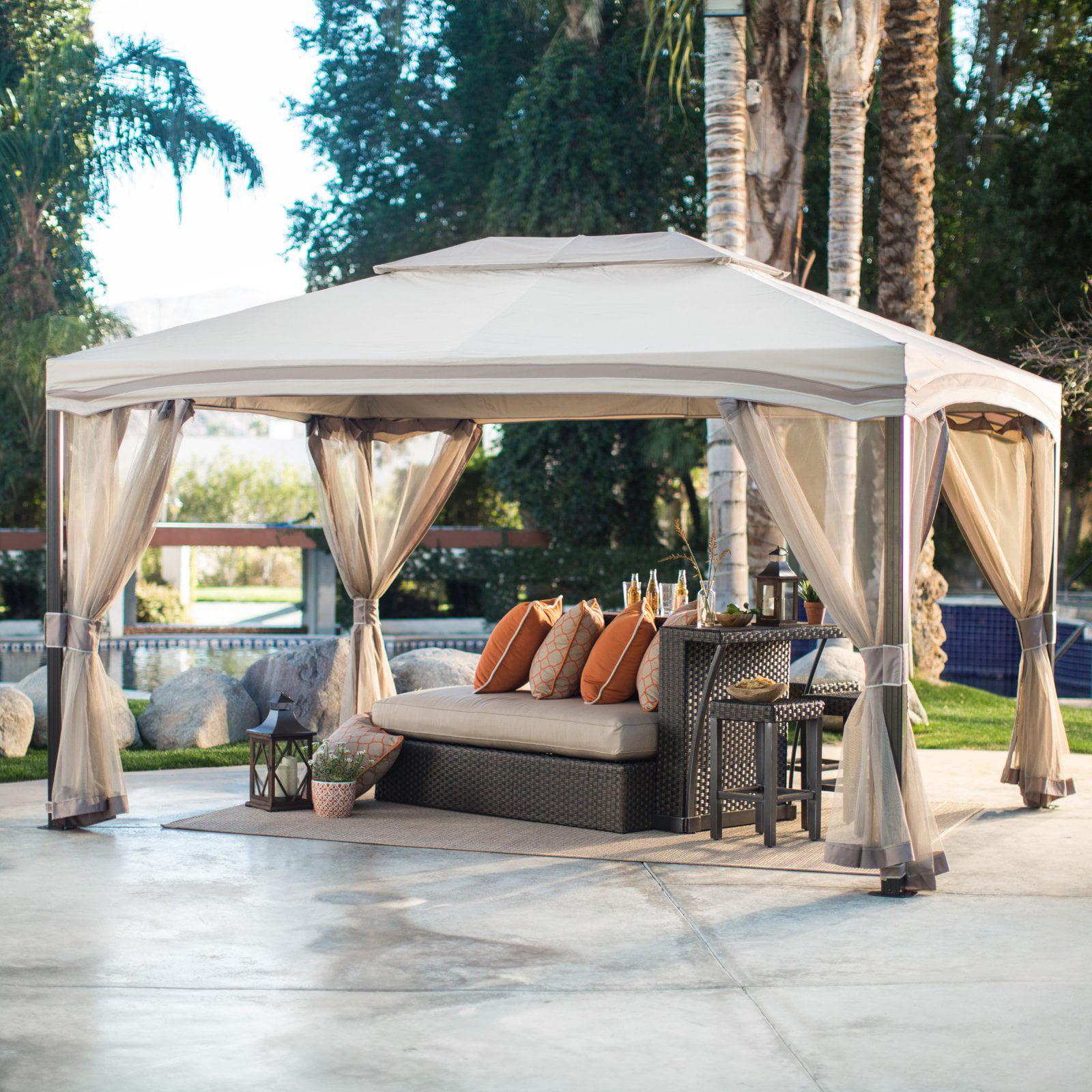 Belham Living Catina 13 x 10 ft. Cabin Style Garden House Canopy Gazebo by