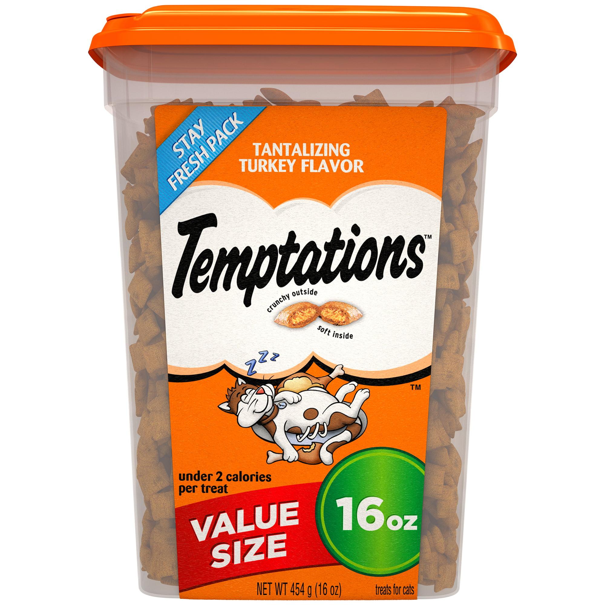 TEMPTATIONS Classic Treats for Cats Tantalizing Turkey Flavor, 16 oz. Tub