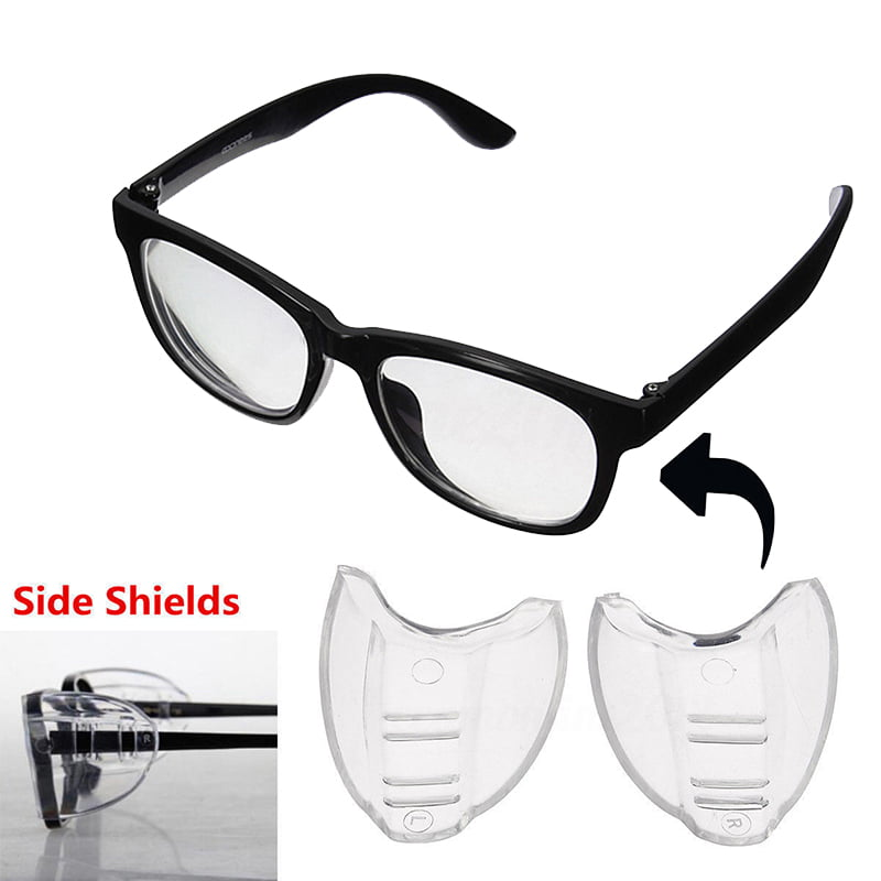 1 Pair Goggles Side Shields Eye Protective Clear Safety Flexible Glasses