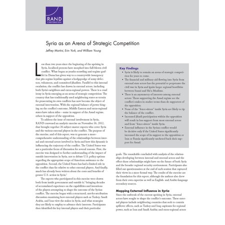 Syria as an Arena of Strategic Competition - eBook ()