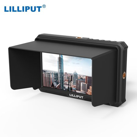 LILLIPUT A5 5 Inch IPS Camera-Top Broadcast Monitor for 4K Full HD Camcorder & DSLR with 1920x1080 High Resolution 1000:1 Contrast Application for Taking Photos & Making Movies