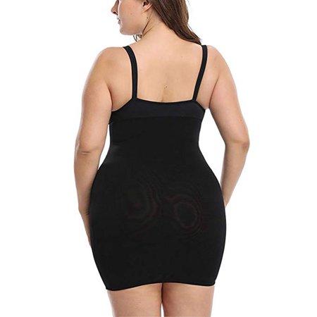 08dc7fd35f4 Lelinta - LELINTA Women's Firm Control Plus Size Slip Shapewear Seamless  Spandex Body Shaper Slimmer Feeling Yourself Full Slips - Walmart.com