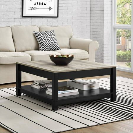 Better Homes and Gardens Langley Bay Coffee Table, Multiple Colors Black Rustic Coffee Table