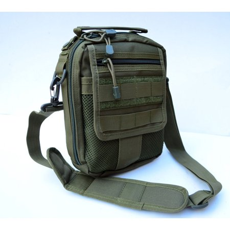 Acid Tactical® Molle Pistol Gun Case Concealed carry Bag Utility Pouch IFAK OD (Tactical Gun Bags)