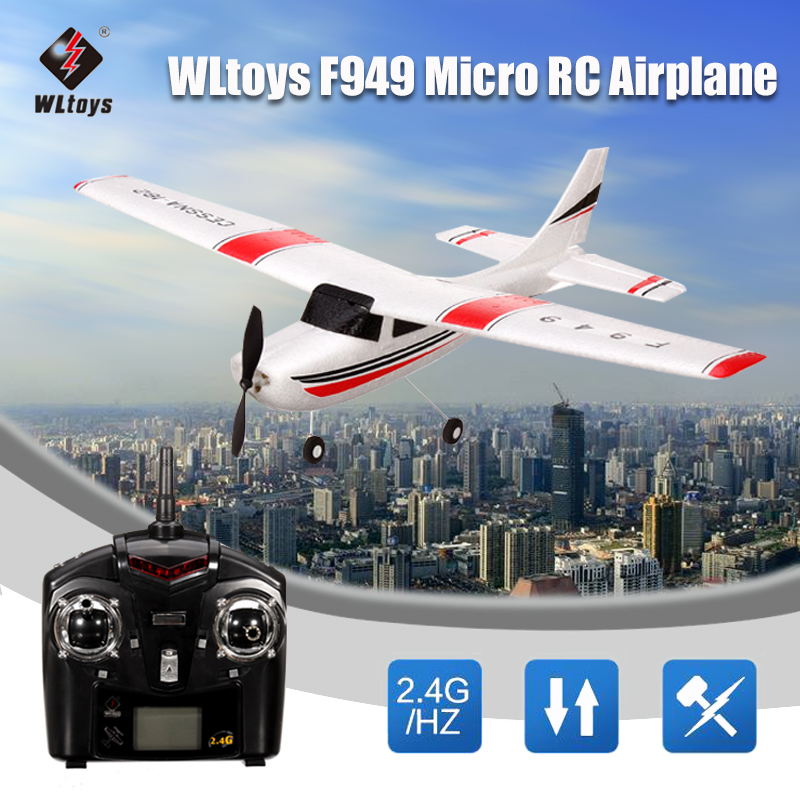 Original Wltoys F949 2.4G 3CH RC Remote Control Airplane with Transmitter,Fixed Wing Plane Toys... by