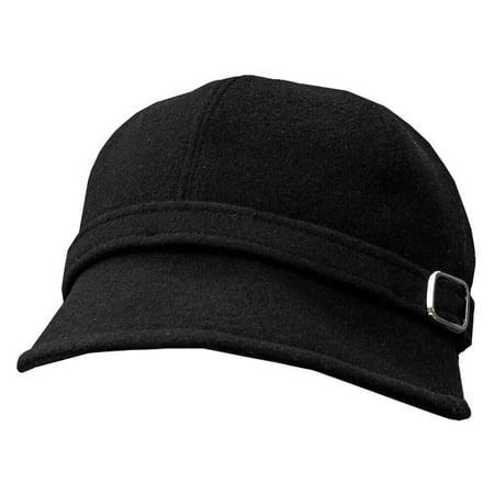 Ladies Flapper Hat, Downton Abbey Style, Black - Flapper Hat