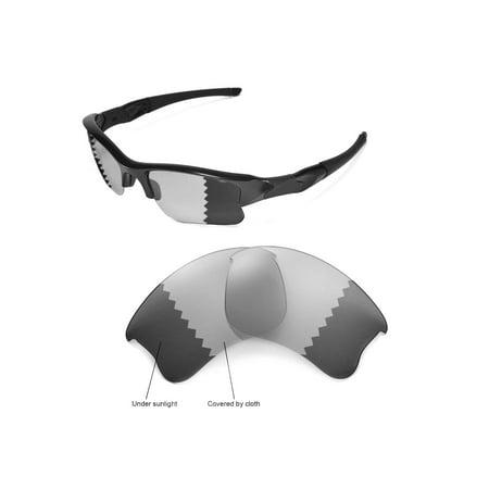 dc7470281b Walleva - Walleva Transition Photochromic Polarized Replacement Lenses for Oakley  Flak Jacket XLJ Sunglasses - Walmart.com