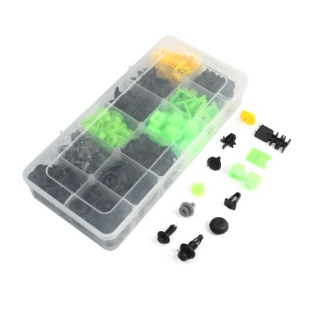 Car Black Gray Yellow Green Plastic Push Clip Fasteners 250 Pcs for Isuzu