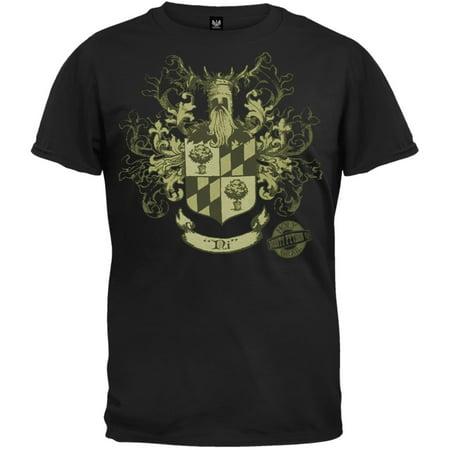 Monty Python Men's  Knights Of Ni Crest T-shirt Black