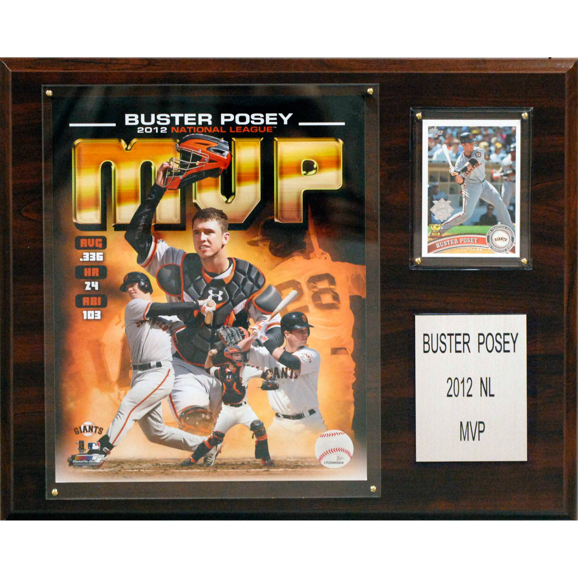 C&I Collectables MLB 12x15 Buster Posey 2012 MVP San Francisco Giants Player Plaque